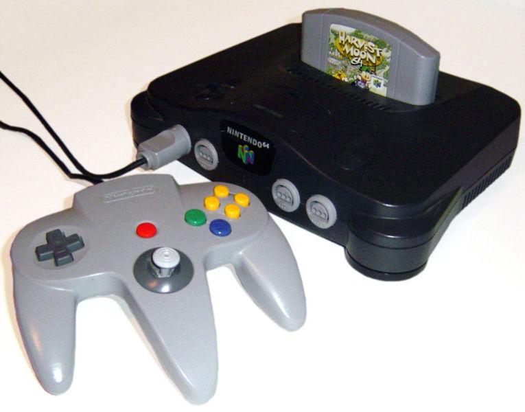 génération full 3D, la Nintendo 64 avec le jeu « Super Mario 64